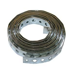 LASCO 13-1603 22-Gauge Galvanized Metal Perforated Plumbers Tape, 3/4-Inch X 10-Feet