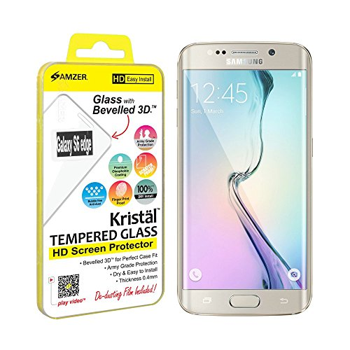 Tempered Glass Protector for Samsung Galaxy S6 Edge G925F (Clear) - 3