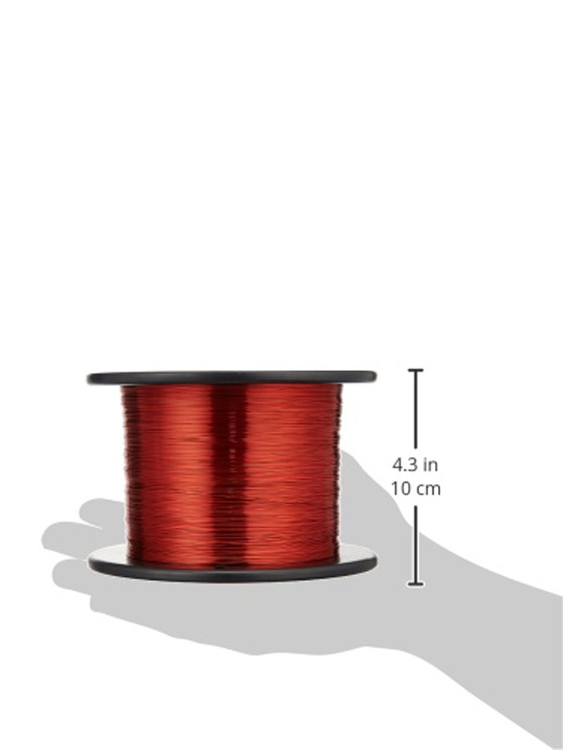 Magnet Wire, Enameled Copper Wire, 23 AWG: Copper Metal Raw ...