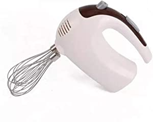 Hand Mixer Five-Speed Power Electric Mixer Stainless Steel 2 Stirring Bars, 2 Dough Hooks, Professional Food Cake Mixer Baking Tools (Color : As photo, Size : One size)