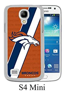 Lovely And Unique Designed Case For Samsung Galaxy S4 Mini With Denver Broncos 03 White Phone Case