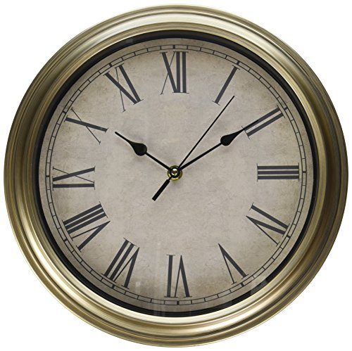 Uniware Antique Vintage Wall Clock,12.6 x 2 Inch (Light Brown), Medium