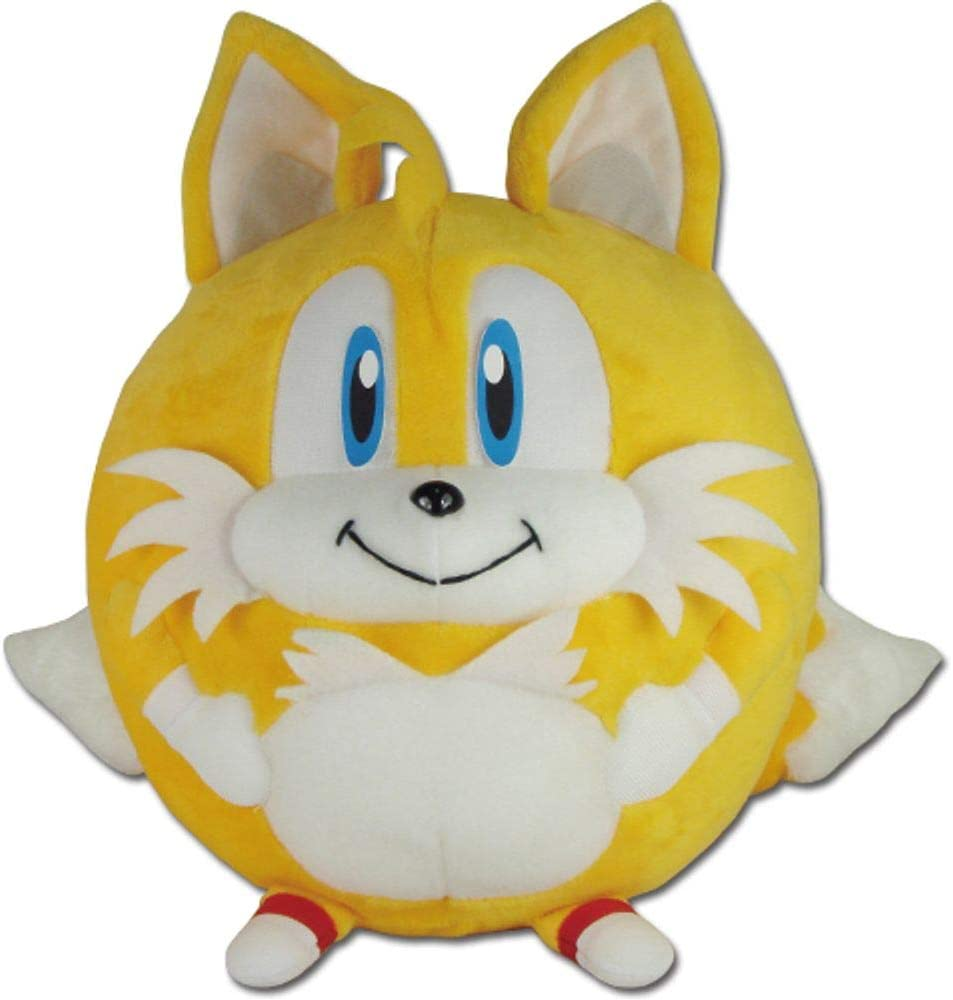 Amazon Com Great Eastern Entertainment Sonic The Hedgehog Tails Ball Plush 8 H Toys Games