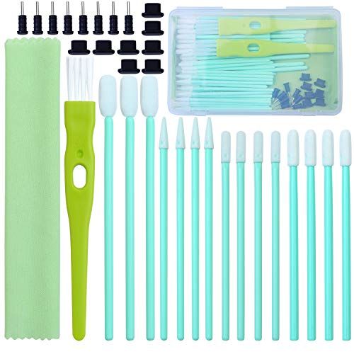 - Aneco 60 Pieces Cell Phone Cleaning Kit Brush Set USB Charging Port Dust Port Covers Plug Set and Headphone Jack Cleaner Compatible with iPhone, iOS Android, Cell Phone, Electronics Cleaner