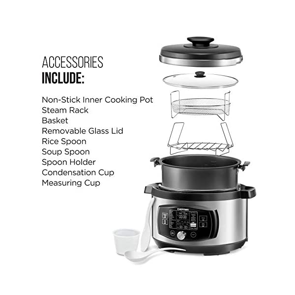 Chefman Multi-Function Oval Pressure Cooker 8 Quart Extra Large Programmable Multicooker, 18 Presets to Slow Cook, Sauté… 6