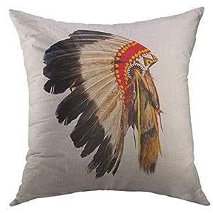 Funda de cojín decorativa para sofá, cama, diseño de chef indio ...