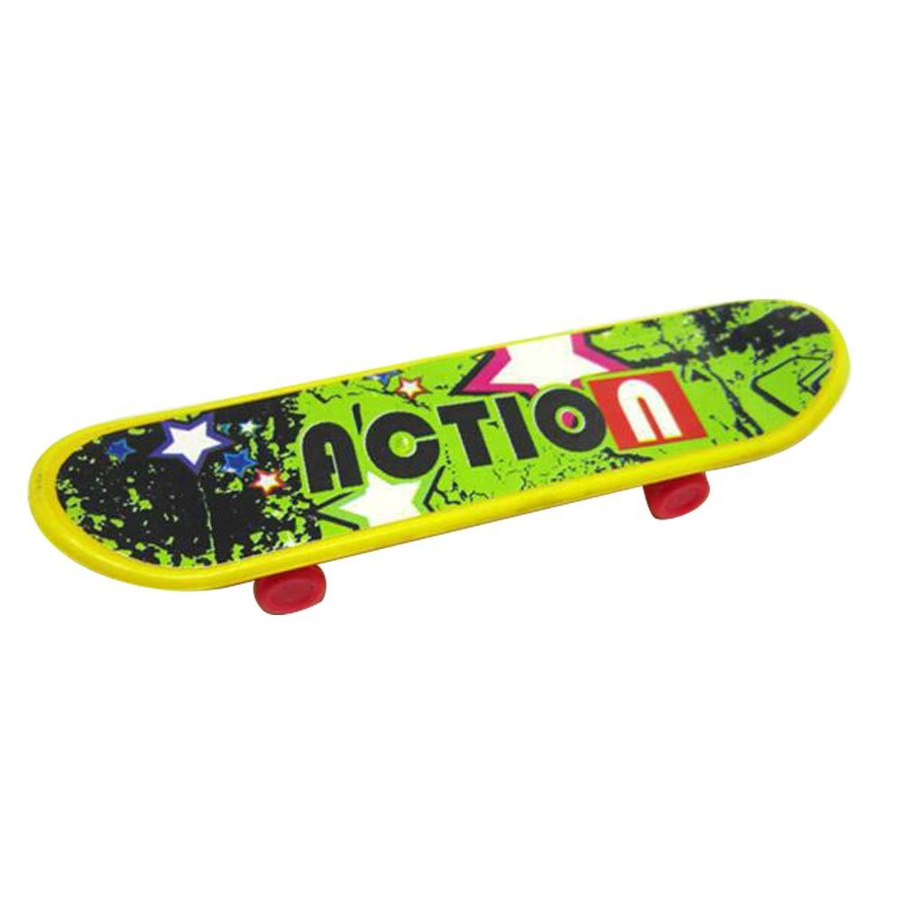 BrawljRORty Toy Cars, Mini Printed Finger Skateboard Plastic Board Toy Educational Kids Children Gift
