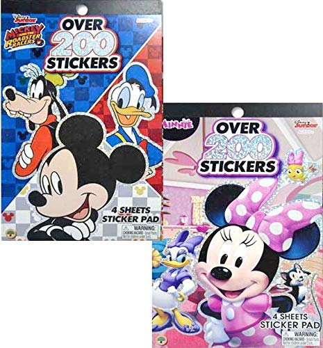 Disney Mickey Mouse & Minnie Bowtique Sticker Pad Set (Total Over 400 Stickers) -