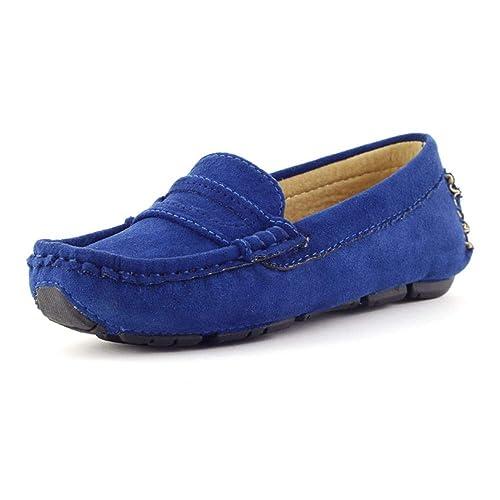 Mocasines de conducción Casual para niños Mocasines de Penny Mocasines de Cuero para niñas!: Amazon.es: Zapatos y complementos