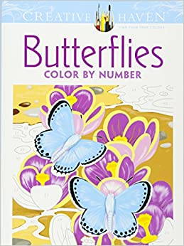 Amazon.com: Creative Haven Butterflies Color by Number ...