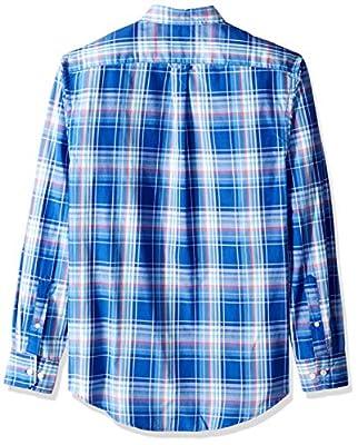 IZOD Men's Breeze Button Down Long Sleeve Plaid Shirt