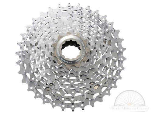 Shimano CS-M770 XT Bicycle Cassette (9-Speed, 11/34T, Silver) ()