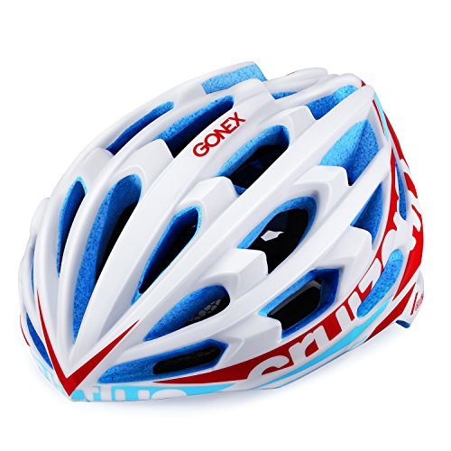 Gonex Adult Bike Helmet, Lightweight Ventilated Road Cycling Helmet,CPSC Certified (M, White)