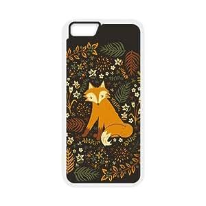 Diy Cute Fox Custom Cover Phone Case for iphone 6 (4.7 inch) White Shell Phone [Pattern-1] Kimberly Kurzendoerfer