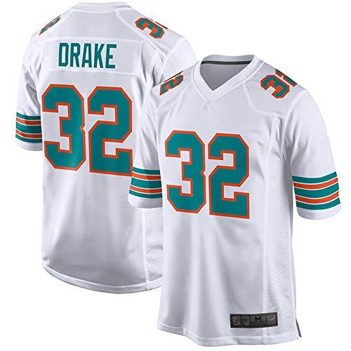 Men's_Kenyan_Drake_Miami_Dolphins_White Throwback Game Jersey (3XL) (Miami Dolphins Football Jersey)