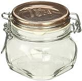 Bormioli Rocco Fido Storage Jar with Copper Lid, 17 oz. Pack of 6