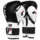 Fighting Sports S2 Gel Power Training Gloves, Black/White, 14 oz