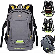 DSLR SLR Camera Backpack Camera Bag Video Padded Backpack Photography Travel for Canon, Nikon, Sony, Olympus, Pentax and etc Grey