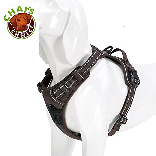 Chai's Choice Best Outdoor Adventure Dog Harness. 3M Reflective Vest with Handle and Two Leash Attachments.Caution Please Use Sizing Chart at Left Before Ordering! Matching (X-Large, Chocolate) (Best Dog Harness Review Uk)
