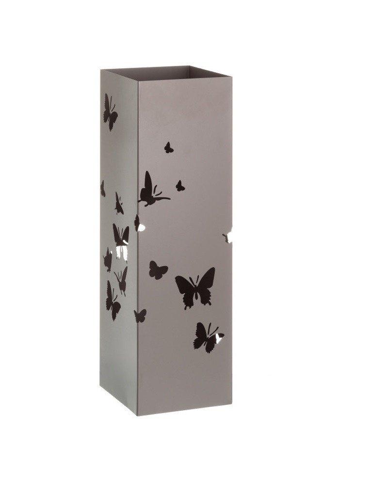 Portaombrelli in Metallo Design Moderno Farfalle Due Colori Beige Casa e altro ancora