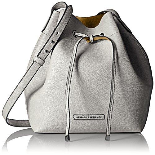 A|X Armani Exchange Petite Faux Leather Bucket Bag, (Logo Bucket Handbag)