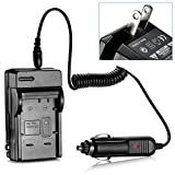 NEEWER® AC Wall Charger + In-Car Charger Adapter for Panasonic DNW-BCF10 / DMW-BCF10E / DMW-BCG10E batteries and Panasonic LUMIX DMC-FS1, DMC-FS11, DMC-FS12, DMC-FS15, DMC-FS25, DMC-FS30, DMC-FS33, DMC-FS4, DMC-FS42, DMC-FS6, DMC-FS62, DMC-FS7, DMC-FT1, DMC-FX40, DMC-FX48, DMC-FX550, DMC-FX580, DMC-FX60, DMC-FX65, DMC-FX70, DMC-FX700, DMC-FX75, DMC-ZR1, DMC-ZS1, DMC-ZS3, DMC-ZS5, DMC-ZX1, TZ6, TZ7