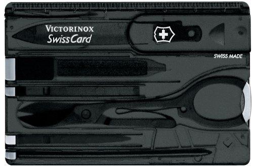 Victorinox Taschenwerkzeug SwissCard Onyx transparent, 0.7133.T3