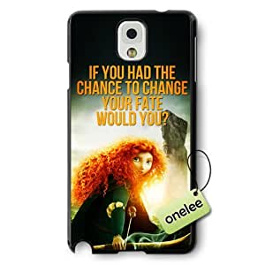 Disney Brave Princess Merida Hard Plastic Phone Case & Cover for Samsung Galaxy Note 3 - Black by mcsharks