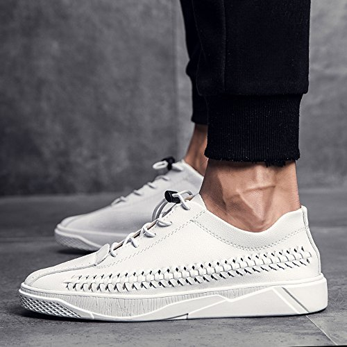Autumn Breathable CN43 Shoes 3 Spring Colors EU42 Fashion Size Color Personality Feifei and White Men's Plate Shoes 5 UK8 wIUqxd0d