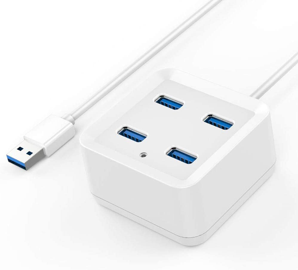 Size : 0.5m USB2.0 Splitter Computer Notebook Multi-Interface Converter HUB Hub White