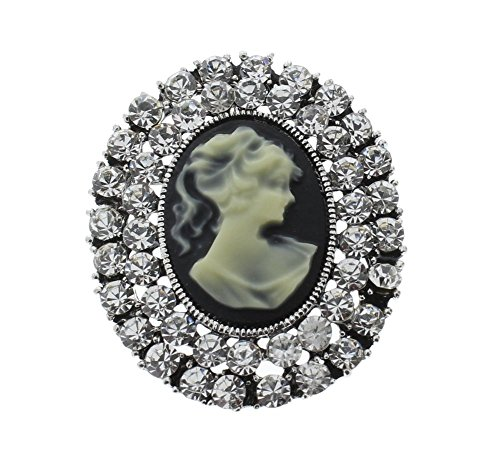 Cameo Rhinestone Pin - Cameo Rhinestone Pin Brooch Scarf ClipsCorsage Jewelry for Lady Broach with Necklace Pendant hook
