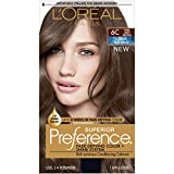 L'Oréal Paris Superior Preference Fade-Defying + Shine Permanent Hair Color, 6C Cool Light Brown, 1 kit Hair Dye