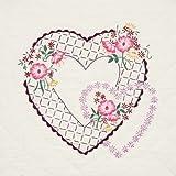 Fairway 95310 Quilt Blocks, Interlocking Hearts Design, White, 6 Blocks Per Set