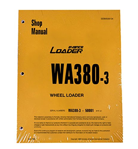 Komatsu WA380-3 Wheel Loader Workshop Repair Service Manual - Part Number # SEBD006104
