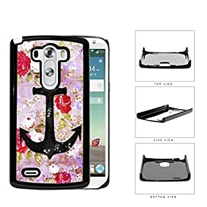 Vintage Roses And Anchor Dirty Grunge Hard Plastic Snap On Cell Phone Case LG G3