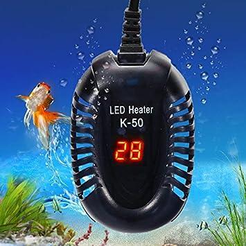 Calentador Acuario Pecera Tortuga De Temperatura Sumergible Mini 25//50//75//100W LED