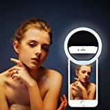 New Selfie Ring Light,Joseche Ring Light for Camera [Rechargable Battery][No Battery required] Portable Selfie LED Camera Light for iPhone iPad Sumsung Galaxy Photography and More Smart Phones(Black)