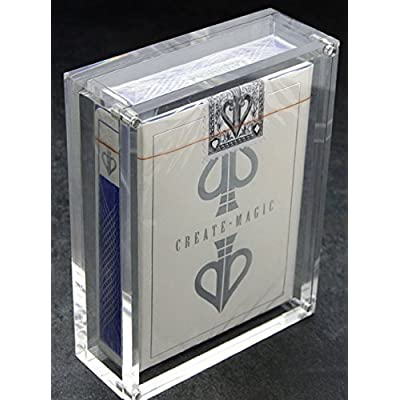 Carat X1 Card Case for Playing Card Decks - Strong Clear Acrylic & Magnetic Seal: Sports & Outdoors