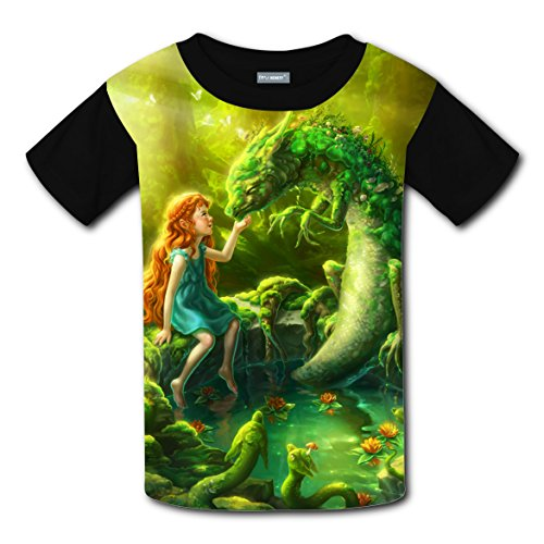 Girl Elf Coustom Kids Short Sleeve T-Shirt Boys Girls Tee Soft Round Shirt Tops (Halloween Coustoms)