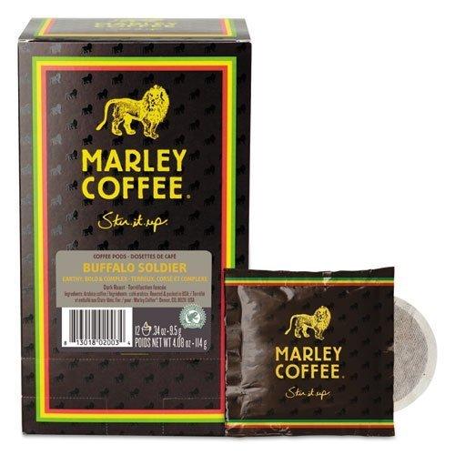 Marley Coffee Coffee Pods, Buffalo Soldier, 0.34 oz, 12/Box by Marley - Marley Mall