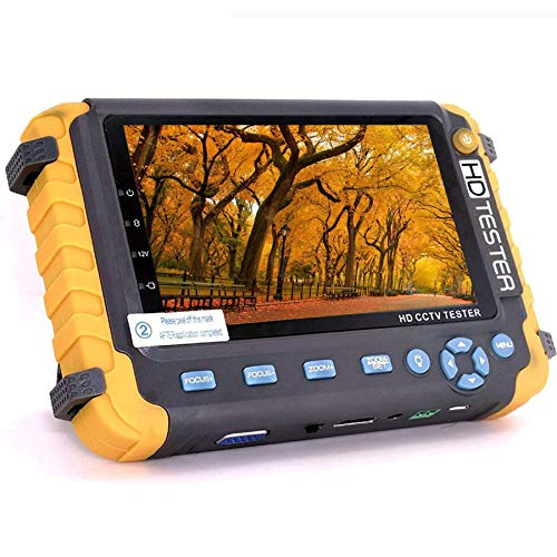4 in 1 CCTV Camera Tester, JZTEK 5 inch LCD Screen Video Monitor for 1080P/3.0mp/4.0mp/5.0/8.0 Megapixel AHD/TVI/CVI…