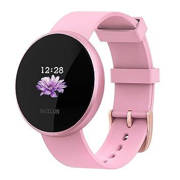 Montre Connectée Femmes,Moniteur de fréquence Cardiaque avec écran Couleur, IP68 étanche Réveil Automatique écran Montre Intelligente téléphone Mobile ...