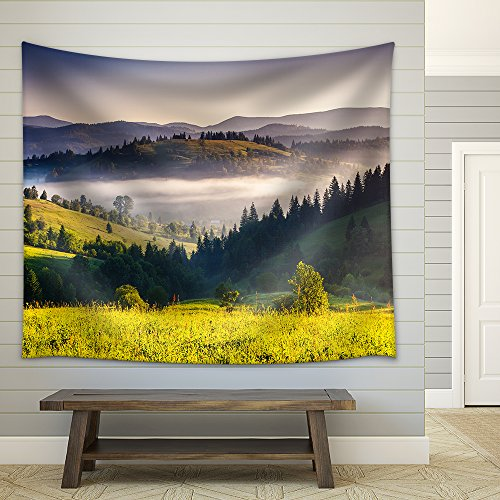 Fantastic Morning Mountain Landscape Fabric Wall Tapestry