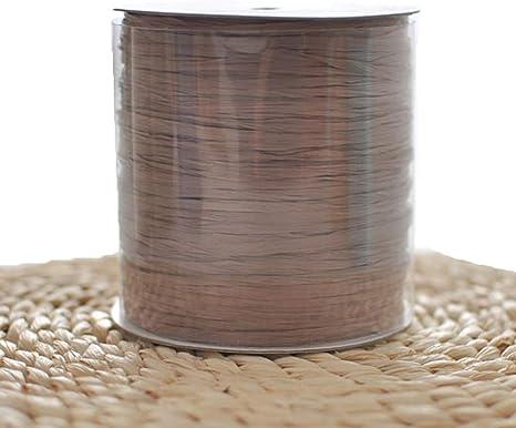 Hilo de rafia de ganchillo de algodón natural de rafia, rayón, rafia, ganchillo, ganchillo, tejido, rafia, sombrero, bolsa, hilo de celulosa para tejer: Amazon.es: Juguetes y juegos