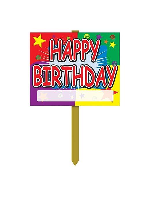 Amazon.com: Feliz Cumpleaños Yard Sign accesorio de fiesta ...