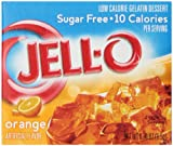 Jell-O Sugar-Free Gelatin Dessert, Orange, 0.30-Ounce Boxes (Pack of 6)