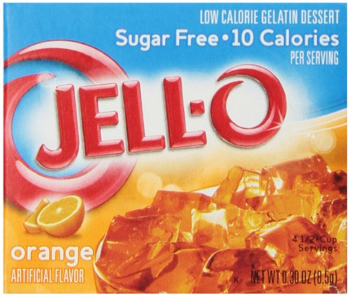 Jell-O Sugar-Free Gelatin Dessert, Orange, 0.30-Ounce Boxes (Pack of (Orange Gelatin)