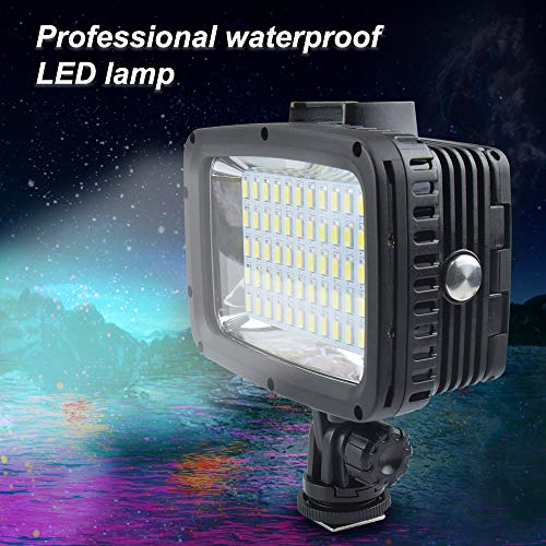 MEIKON - Luz de vídeo LED Sumergible (12 W, 60 ledes, 1800 LM, ultrabrillante, para cámara GoPro Xiaomi Yi SJCAM, cámara...
