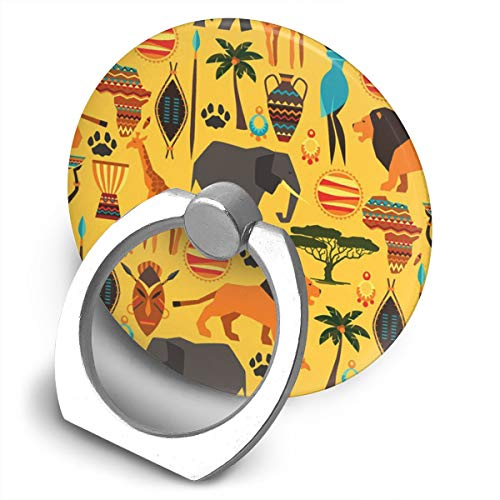 Phone Ring Holder Stand Africa Zoo Animals Grip Mount Compatible with Smartphones for Tablets ()
