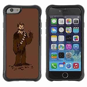 """A-type Arte & diseño Anti-Slip Shockproof TPU Fundas Cover Cubre Case para 4.7"""" iPhone 6 ( Chewbacca Shave )"""